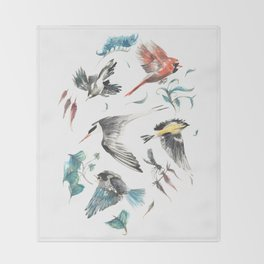 Birdwatching Throw Blanket