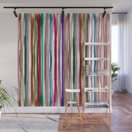 Rainbow Stripes 2 Wall Mural