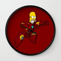 homer Wall Clocks featuring IRON HOMER by Betmac