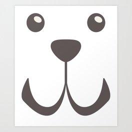 Dog Emoji Cute Fila Brasileiro Art Print