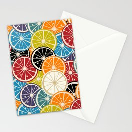 Lemon slice colored pattern Stationery Cards