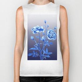 blue rose Biker Tank