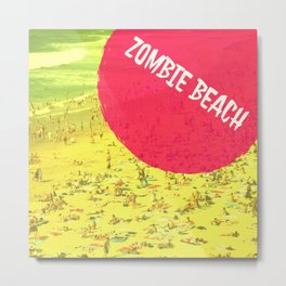Zombie Beach Metal Print