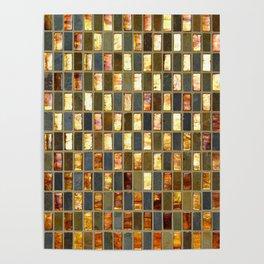 Black Gold Copper Tile Poster