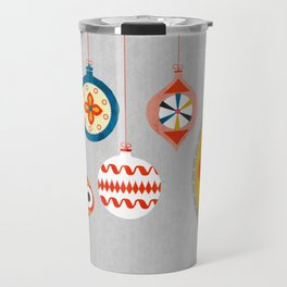 Christmas retro baubles no3 Travel Mug