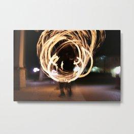 Fire Spinner 2 Metal Print