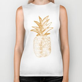 Orange Pineapple Biker Tank