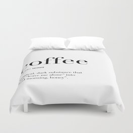 Coffee Definition Duvet Cover
