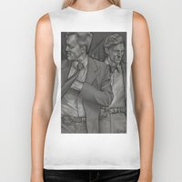 true detective Biker Tanks featuring True Detective  by Dave Roberts Art