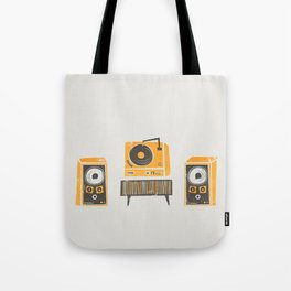 Vinyl Deck And Speakers Tote Bag