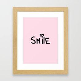Smile Pink Framed Art Print