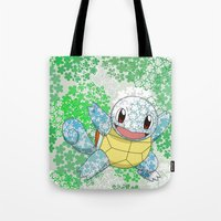 squirtle Tote Bags featuring Squirtle by Mischievie