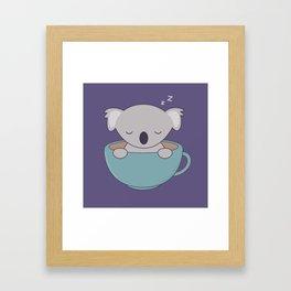 Kawaii Cute Koala Bear Framed Art Print