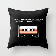 TAKE THIS TAPE (Zelda & Guardians of the galaxy Parody) Throw Pillow