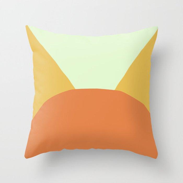 Deyoung Orange Throw Pillow