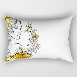 nature flower woman Rectangular Pillow