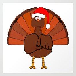 Another Christmas Turkey Art Print
