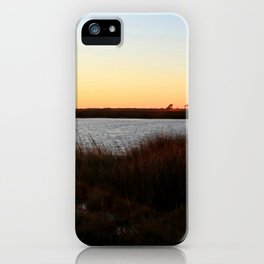 Watercolor Sunset, Janes Island 04, Maryland iPhone Case