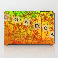 london map iPad Cases featuring London Map by Ganech joe