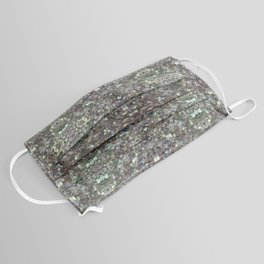 Sparkly colourful silver mosaic mandala Face Mask