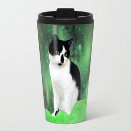 Gypsy Da Fleuky Cat and the Kitty Emerald Night Travel Mug