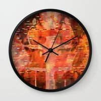 hemingway Wall Clocks featuring Been There Done That < The NO Series (Brown) by Wayne Edson Bryan