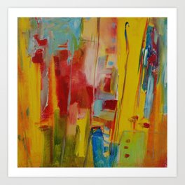 Flight in Yellow Art Print