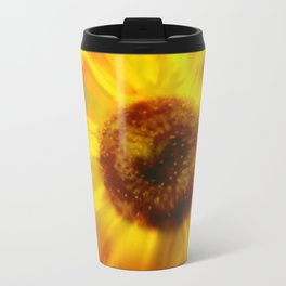 Sunflower A Blaze Metal Travel Mug