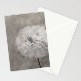 Charcoal Flower Stationery Cards