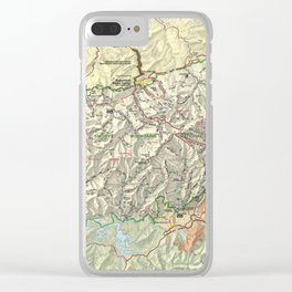 The Great Smoky Mountains National Park Map (1997) Clear iPhone Case