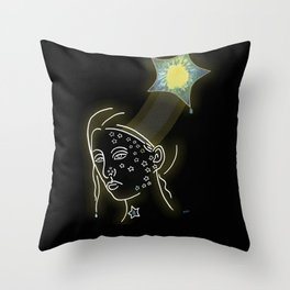 """Twinkle Twinkle"" Illustration by Sheila Fein Poem by Cathy Fuller Throw Pillow"