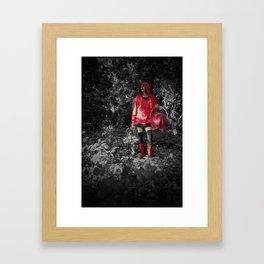 red riding hoodie Framed Art Print