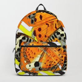 CONTEMPORARY  BUTTERFLIES ORANGE-YELLOW GRAPHIC ART Backpack
