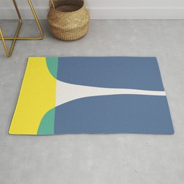 Blue and yellow baby green Rug