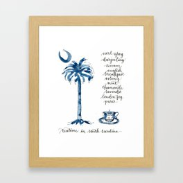 Teatime in South Carolina Framed Art Print