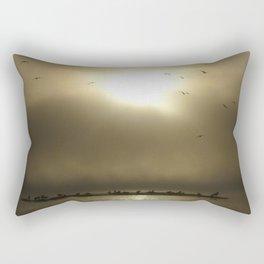 First step between Heaven and Hell Rectangular Pillow