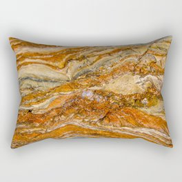 Orange Rock Texture Rectangular Pillow