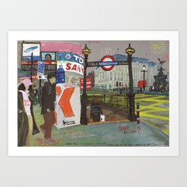London #2. Piccadilly Circus Art Print
