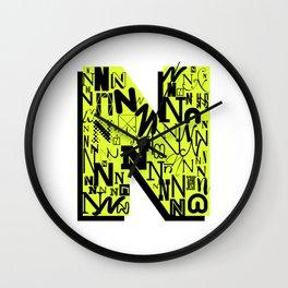 Letter N Wall Clock