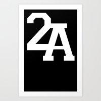 2A in White Art Print