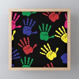 Hands impressions Framed Mini Art Print