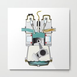 Induction Stroke Metal Print
