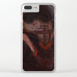 the kiss munch Clear iPhone Case