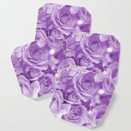 Violet Rose Bouquet For You - Valentine's Day #decor #society6 #homedecor Coaster