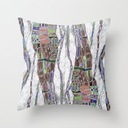 Weaving the Thread: Strands of Life Throw Pillow