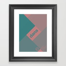 dana single hop Framed Art Print