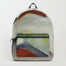 Haystacks in the snow by Franz Marc Backpack