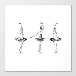 three ballerinas dancing . ( https://society6.com/vickonskey/collection ) Canvas Print