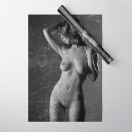 Distressed Nude Wrapping Paper