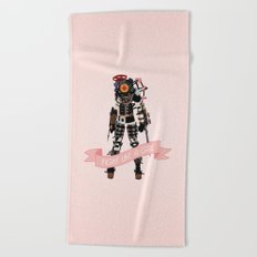 Fight Like a Girl: Big Sister Beach Towel